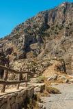 Kreta Grekland: berglandskap i Rethymno den regionala enheten Royaltyfri Foto