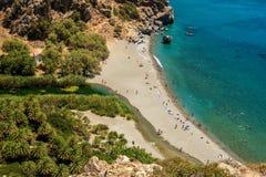 Kreta Grekland: Gömma i handflatan fjärden Royaltyfri Fotografi