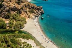 Kreta Grekland: Gömma i handflatan fjärden Royaltyfri Foto