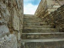 KRETA GREKLAND - November, 2017: forntida ruines av den famouseKnossos slotten på Kreta royaltyfria foton