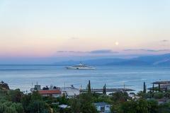 KRETA, GRIECHENLAND - 4. Oktober 2017: die teuersten Yacht Eclips Stockbilder