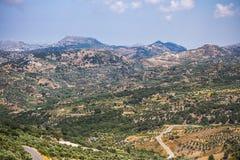Kreta medelhavs- berglandskap Fotografering för Bildbyråer