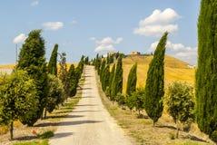 Kreta senesi, charakteristische Landschaft in Val d'Orcia Lizenzfreie Stockfotografie