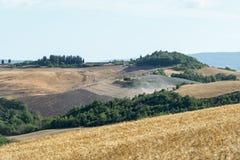 Kreta Senesi (Toscanië, Italië) Stock Afbeeldingen