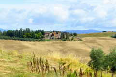 Kreta Senesi (Toskana, Italien) Stockbild