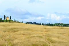 Kreta Senesi (Tuscany, Italien) Arkivbild