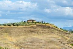 Kreta Senesi (Tuscany, Italien) Royaltyfria Foton