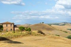 Kreta Senesi (Tuscany, Italien) Fotografering för Bildbyråer