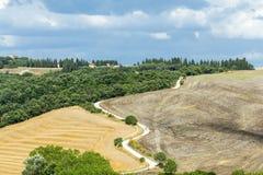 Kreta Senesi (Tuscany, Italien) Arkivfoton