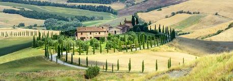 Kreta Senesi (Tuscany, Italien) Royaltyfri Bild