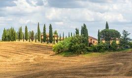 Kreta Senesi (Tuscany, Italien) Royaltyfri Foto