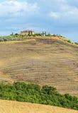 Kreta Senesi (Tuscany, Italien) Arkivfoto