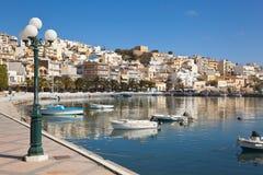 Kreta, Sitia, Ansicht von Booten am Hafen stockfoto