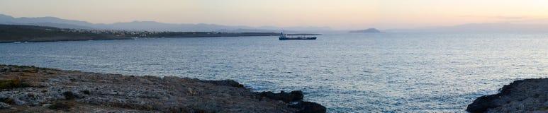 Krete, Греция, заход солнца стоковые изображения rf