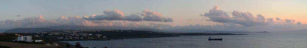 Krete, Греция, заход солнца стоковое изображение rf