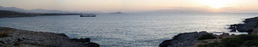 Krete, Greece, sunset Royalty Free Stock Image