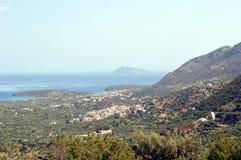 Kretenzisch landschap van een vallei Royalty-vrije Stock Afbeelding