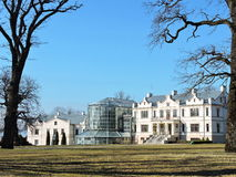 Kretinga Museum and Winter Garden, Lithuania. View of Kretinga Winter Garden and Museum, Lithuania stock photography