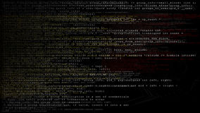 Kretsa kanalen för PNG för text för datakod den alfabetiska stock video