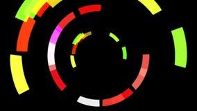 Kretsa kring färgade former som rotera i ett gyroscopic mode royaltyfri illustrationer
