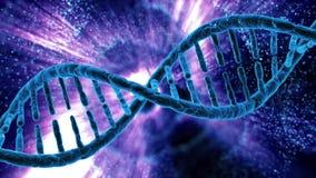Kretsa rotation av DNA:t av mänskliga celler stock illustrationer