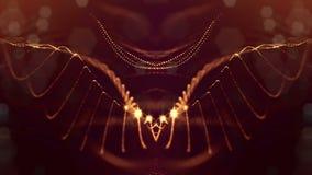 Kretsad sammans?ttning 3d av att moussera guld- partiklar p? en m?rk bakgrund med djup av f?lt- och bokeheffekter lighting vektor illustrationer