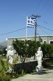 krety Greece trwającego samolot wylądował światło słońca Zdjęcie Royalty Free