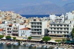Krety ażio Nikolaos Greece Fotografia Royalty Free