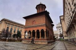Kretzulescu kyrka Bucharest arkivfoton