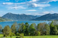 Kreuth at the Tegernsee lake in Bavaria, Germany stock photo