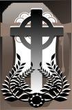 Kreuz auf abstraktem Hintergrund Stockbilder