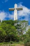 Kreuz auf Berg Samat, Philippinen lizenzfreies stockfoto