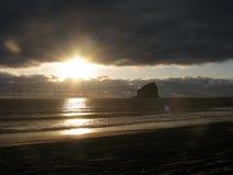 Kreuz auf dem Strand Stockbild