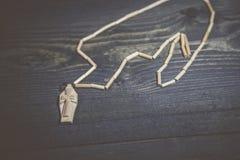 Kreuz auf dem Tisch Stockfotos