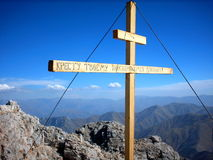 Kreuz auf der Alpe Lizenzfreie Stockfotografie