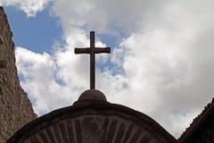 Kreuz auf einem spanischen Auftrag Lizenzfreie Stockfotografie