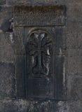 Kreuz auf einem Stein Lizenzfreie Stockbilder