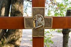 Kreuz auf Erscheinungshügel Lizenzfreie Stockfotos