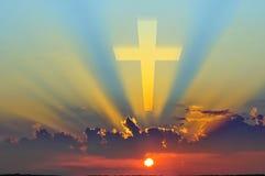 Kreuz auf Himmel Lizenzfreie Stockbilder