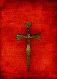 Kreuz auf Rot Stockfotos