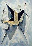 Kreuz, das heraus durch ein Segeltuch schaut Stockfoto