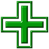 Kreuz der Apotheke-3D Stockbilder