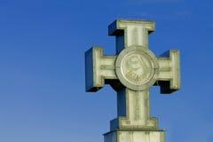 Kreuz der Freiheit am Freiheitsquadrat in Tallinn, Estland Lizenzfreies Stockfoto