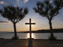 Kreuz in der Sonne Lizenzfreies Stockbild