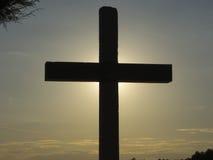 Kreuz in der Sonne Lizenzfreie Stockfotografie