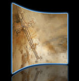 Kreuz des rostigen Drahts Lizenzfreie Stockbilder