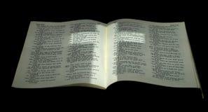 Kreuz gelegt auf Bibel Stockbilder