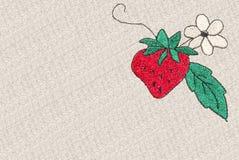 Kreuz-Heftung Erdbeere stockfotos