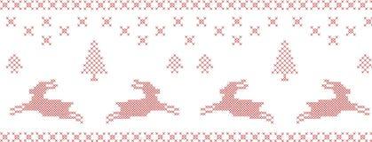 Kreuz-Heftung Muster. Stockfotografie