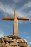 Kreuz im Himmel Stockbilder